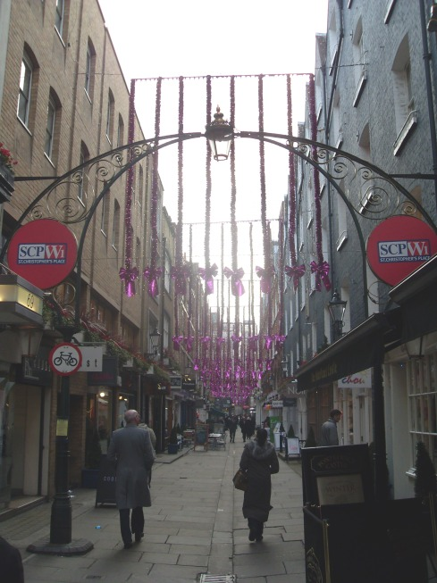 where i work Saint Christophers Place/Geezer