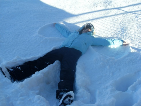 my first snow angel!