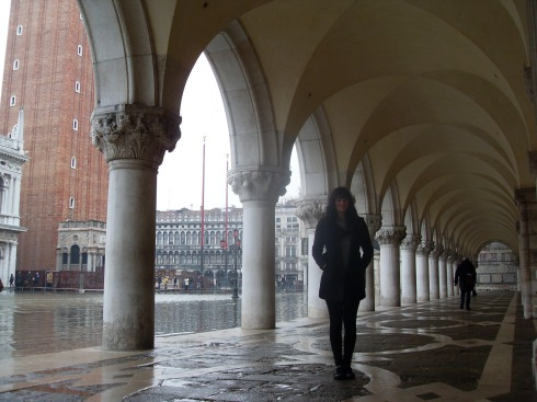 Flooded St. Marks Square, Venice