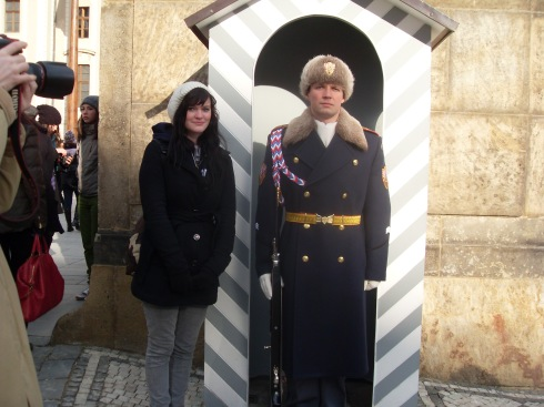 with a Prague Castle Guard