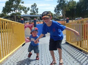 my boys at the playground