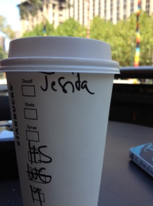How is this 'Jacinta'? This is why I typically use a fake name.