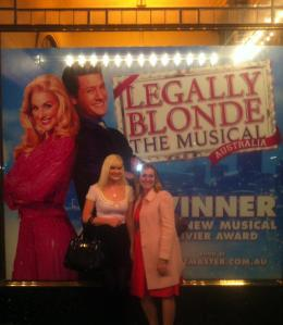 Went to the Legally Blonde Musical with my sister.