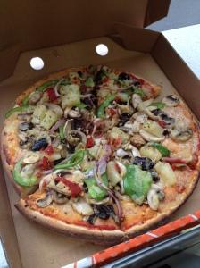 Eat Pizza is my favorite. Vegan Pizza <3