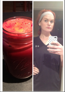 After run selfie and fresh juice.