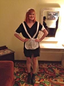 Dressed up as Magenta.
