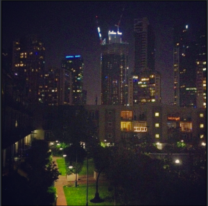 the view from home. City Views.