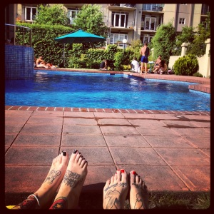 Hangouts at my pool with Steph.