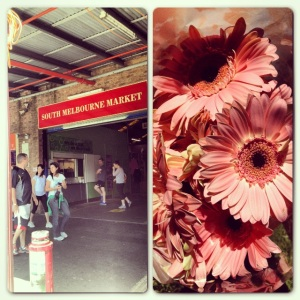 Weekends at South Melbourne Market.