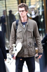 Andrew Garfield on the set of 'The Amazing Spider-Man' in NYC