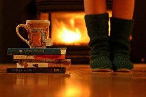 Winter. Fires. Tea. Reading. Cuddles. <3