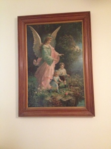 My nan's angel painting.