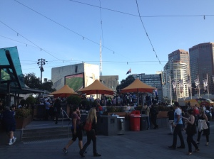 Federation Square, Grand Final Day.