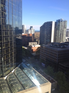 The view from my office. 520 Collins St.