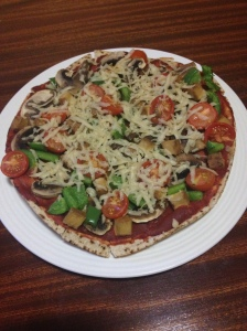 Homemade Vegan Pizza.