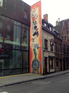 Tin Tin, Graffiti in Brussels.