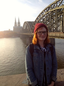 Me with the Dom and Hohenzollernbrucke.