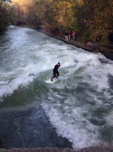 Surfing in the Eisbach.