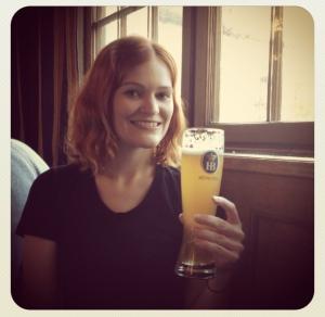 Drinking Beer in Hofbräuhaus.