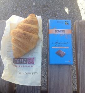 Vegan croissant and chocolate :)