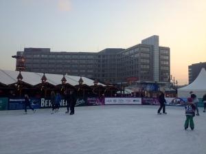 Iceksating at Alexanderplatz.