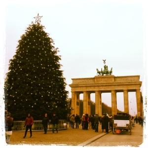 Christmas Tree at Brandenburg Gate.