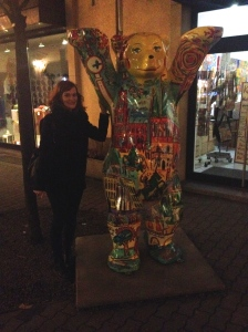 With the Berlin Bear.