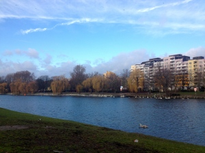 Blue skies and Long Walks.