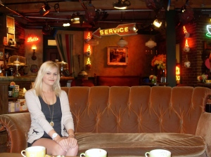 Sitting in Central Perk in 2012. F.R.I.E.N.D.S