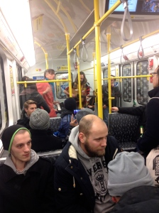 These guys jamming on the U Bahn at 2am :)