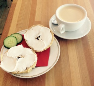 Shakespeare and Sons Vegan cream cheese Bagel :)