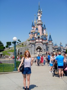 Me at Sleeping Beauty's Castle.