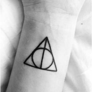 Need to get a Deathly Hallows tattoo in the near future.