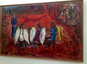 Abraham and three Angels - Marc Chagall