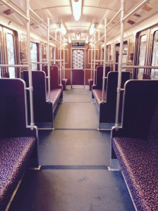Empty train carriage.