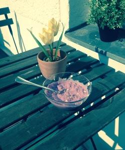 Breakfast on my Balcony <3