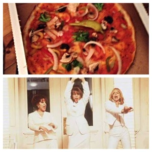 Takeout Pizza and First Wives Club, Friday night in with Alix was done right!