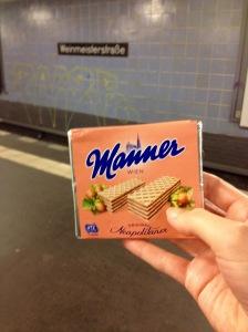 My favorite vegan treat in Germany. Austrian Hazelnut wafers <3