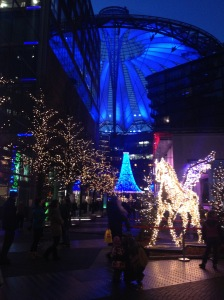Sony Center lights.