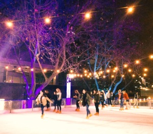 Iceskating in Melbourne.